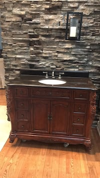 Bathroom Vanity with granite top and faucet Mississauga