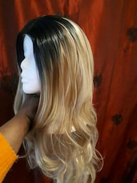 women's blonde hair wig