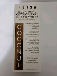 FOSSA Nourishing coconut oil hair treatment with/have shea butter  Toronto, M6J 3R5
