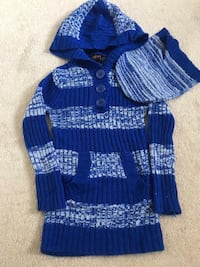 2T Derek Heart Girls Sweater Dress with hat (pick up only) 41 km