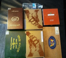 Lot of 5 cigar box for storage crafts +1 free =6