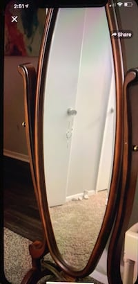 brown wooden framed wall mirror Peachtree Corners, 30092