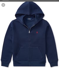 blue Ralph Lauren zip-up hoodie 372 mi