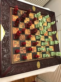 antique and vintage chess game and board complete with board case very nice Christmas gift College Station, 77845