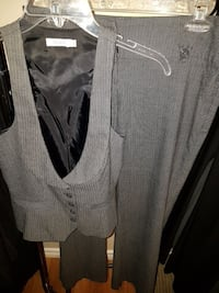 Ladies grey stripe suit