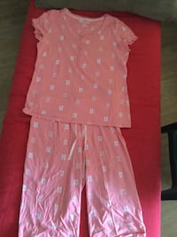 Women's pink and white  2 pieces pj set= new York, 17403