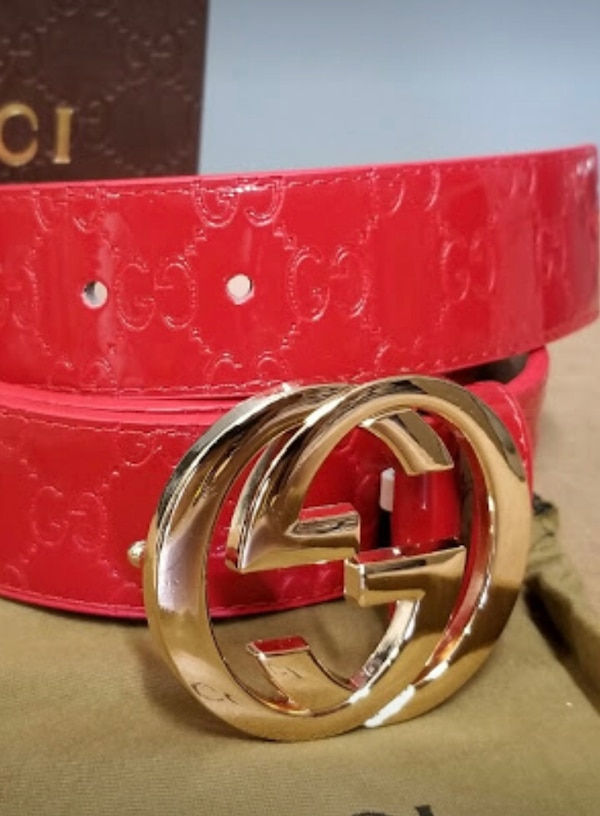 b67b10313 Used Red Gucci belt gold buckle for sale in Rockford - letgo