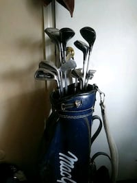 black and gray golf bag with golf clubs Columbus, 43223