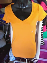 yellow and black crew-neck shirt Orange, 92867