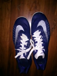 pair of blue Nike running shoes Lincolnton, 28092