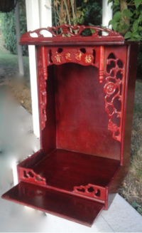 red and black wooden cabinet 3730 km