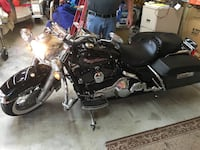 Black touring motorcycle with saddle box North Las Vegas, 89084