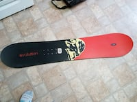 black and red Evolution snowboard Hamilton, L9A 3E9