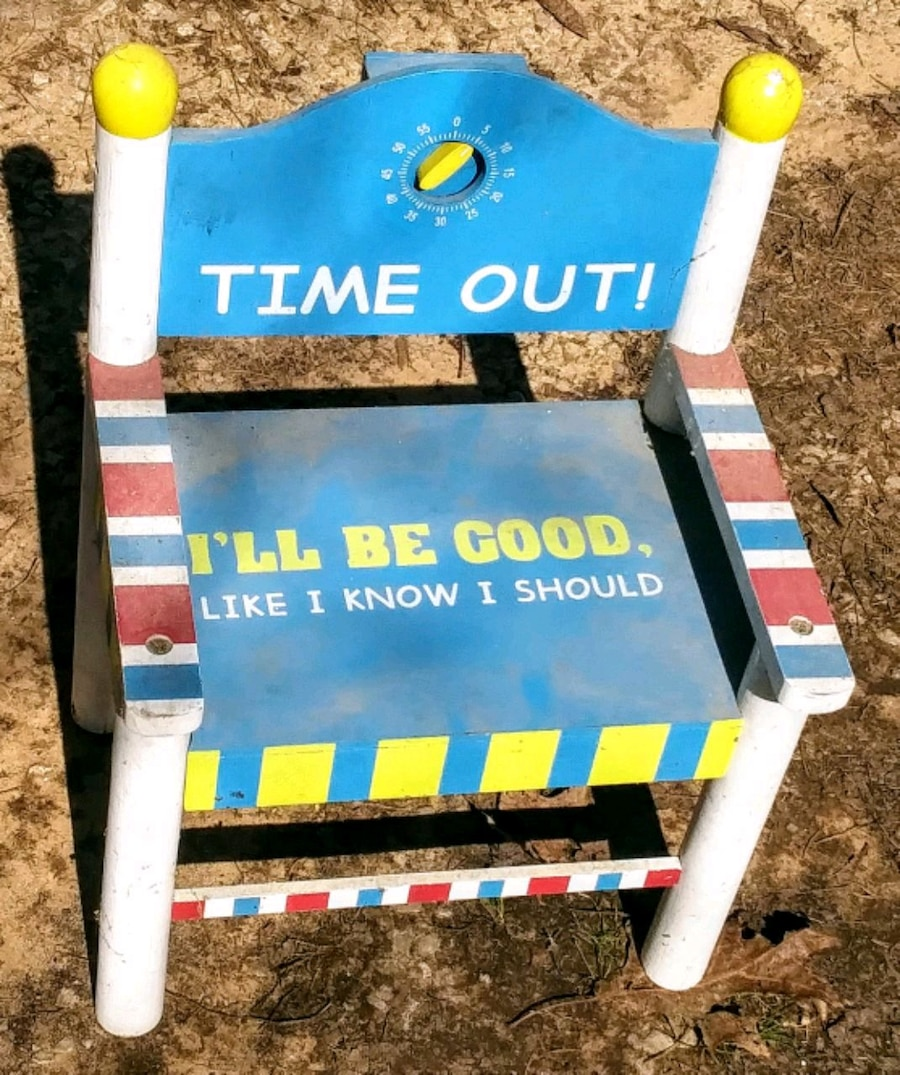 Photo Kids TIME OUT Chair-solid wood-