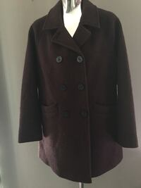 Burgundy wool pea coat $25.00. Purchased from Loft