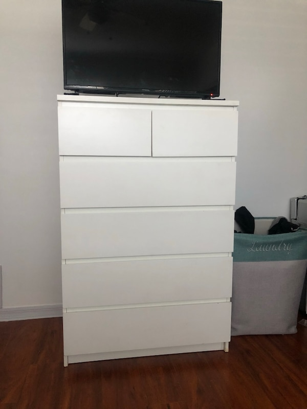 outlet store c4d7d 1fa00 IKEA MALM six drawer chest (white)