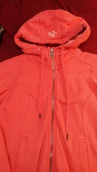 Pink zip-up hoodie size small