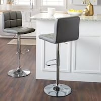 Two Brand New Grey Leather Bar Stool Barstools  Brea, 92821