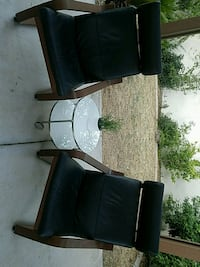 Ikea leather and wood chairs Gilbert, 85233