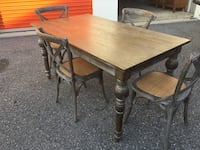 Dinning table plus 4 chairs  22 km