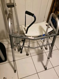 Walker crutches came  Bath chair