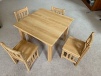 Kids table and chairs - solid wood Schenectady, 12303