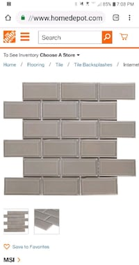40 sq ft Gray Beveled Mesh-Mounted Tile Mechanicsville, 20659
