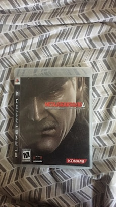 Metalgearsolid4 PS3 game case