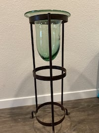 Glass/iron plant stand