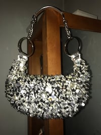 Silver-Colored Handbag