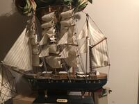 black and gray galleon ship scale model Ogden, 84404