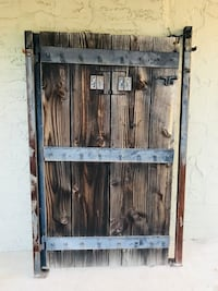 Rustic Medieval Wood and Steel Gate Modesto, 95351