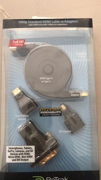 1080p Standard HDMI Cable w/Adapters  Abbotsford, V3G 0B7
