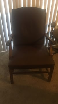 Wooden Brown Leather chair Las Cruces, 88011