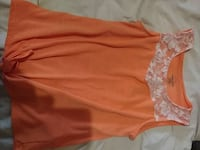 women's orange and white floral tank top Bridgeport, 62417