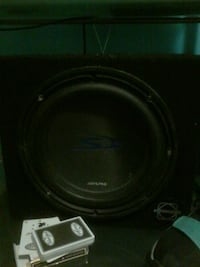 black Pioneer subwoofer with enclosure Winnipeg, R3E 1W1