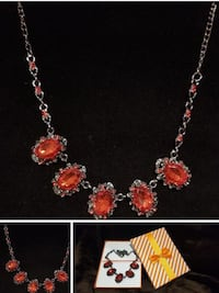 Brand new red stone necklace with box  Richmond Hill, L4B 2Z7