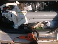 Has blower, battery trimmers (no battery) and electric trimmers