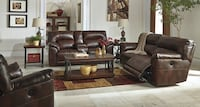 Reclining leather sofa and loveseat  Elgin, 60120