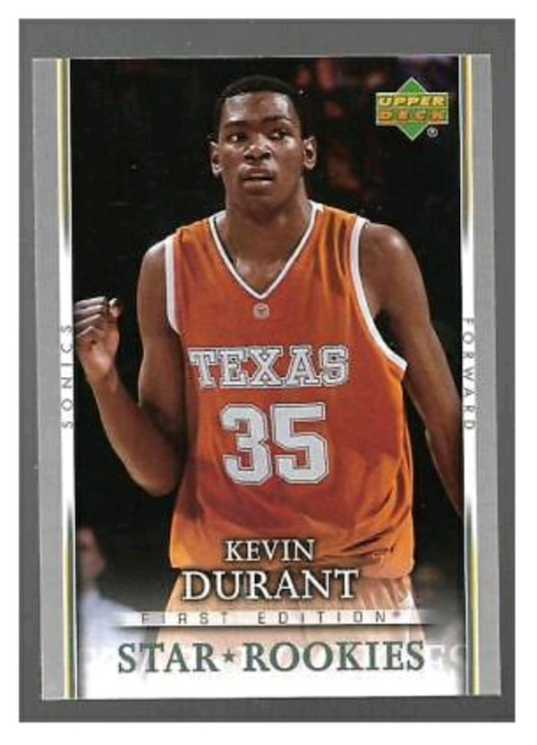 premium selection 4e4f8 db1f1 KEVIN DURANT ROOKIE CARD UPPER DECK FIRST EDITION