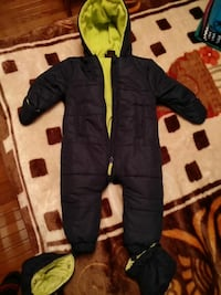 baby's black and green full-zip hooded jumpsuit Brampton, L6S 5B5
