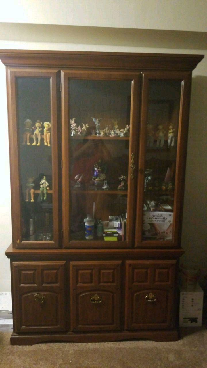 used brown wooden framed glass display cabinet for sale in rh us letgo com