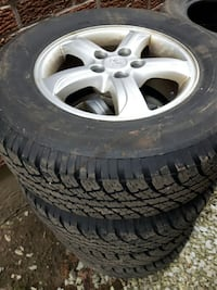 Set of 4 like new tires