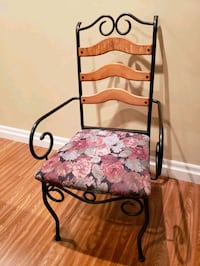 Metal frame chairs with fabric seat