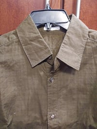Men' M  long sleeve button down