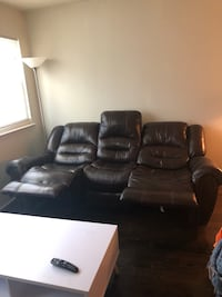Barely used leather couch
