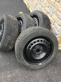 - wheels 16 x 6.5  5 bolt pattern 114.3 rims with toyo observe snow tires. Fits Honda civic for example.  North Glengarry