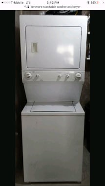 "24"" 110 volt KENMORE STACKABLE Washer and Dryer Set"