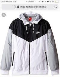 men's black, white, and gray Nike windbreaker jacket screenshot Bryans Road, 20616