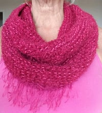 Soft cowl neck tube scarf, silk blend Arlington, 22209